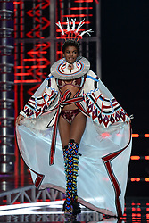 Amilna Estevao on the catwalk for the Victoria's Secret Fashion Show at the Mercedes-Benz Arena in Shanghai, China.