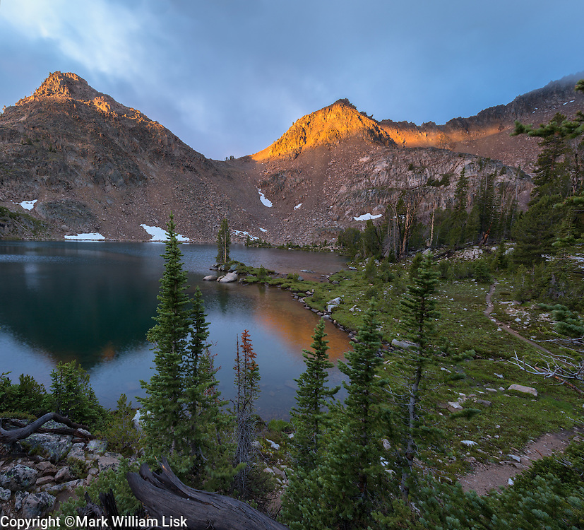 Scoup Lake sits at 9643 feet high in the White Cloud Wilderness of Central Idaho.