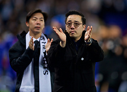LEICESTER, ENGLAND - Saturday, November 10, 2018: Leicester City's vice chairman Aiyawatt Srivaddhanaprabha applauds the supporters after the FA Premier League match between Leicester City FC and Burnley FC at the King Power Stadium. (Pic by David Rawcliffe/Propaganda)