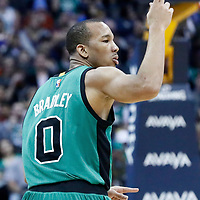 10 March 2017: Boston Celtics guard Avery Bradley (0) celebrates during the Denver Nuggets 119-99 victory over the Boston Celtics, at the Pepsi Center, Denver, Colorado, USA.