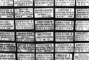 Marble plaques showing tributes of thanks to Monsignor Óscar Anulfo Romero. The crypt of the Metropolitan Cathedral of San Salvador, El Salvador, 1999