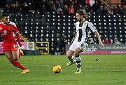 Alan Smith of Notts County and goalscorer Daniel Powell during the Sky Bet League 1 match between Notts County and Milton Keynes Dons at Meadow Lane, Nottingham, England on 26 December 2014. Photo by Jodie Minter.