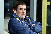 Burton Albion manager Nigel Clough during the EFL Sky Bet Championship match between Burton Albion and Nottingham Forest at the Pirelli Stadium, Burton upon Trent, England on 17 February 2018. Picture by Richard Holmes.