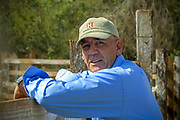 Hanging out with R. Lee Ermey on his ranch in California, 2002