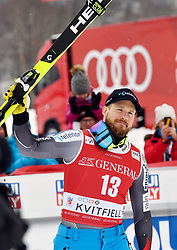 03.03.2019, Olympiabakken, Kvitfjell, NOR, FIS Weltcup Ski Alpin, SuperG, Herren, im Bild Kjetil Jansrud NOR //  during the winner Ceremony for the men's Super-G of FIS Ski Alpine World Cup.  Olympiabakken in Kvitfjell, Norway on 2019/03/03. EXPA Pictures © 2019, PhotoCredit: EXPA/ SM<br /> <br /> *****ATTENTION - OUT of GER*****