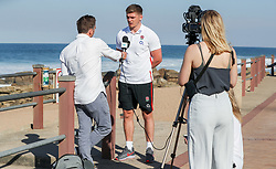 Owen Farrell (Saracens) with George Ford (Leicester Tigers) - Mandatory by-line: Steve Haag/JMP - 07/06/2018 - RUGBY - Kashmir Restaurant - Durban, South Africa - England Rugby Press Conference, South Africa Tour