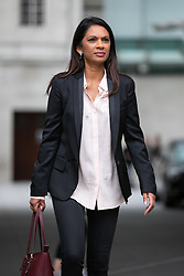 © Licensed to London News Pictures. 09/09/2018. London, UK. Anti-Brexit Campaigner Gina Miller leaves BBC Broadcasting House after appearing on The Andrew Marr Show this morning. Photo credit : Tom Nicholson/LNP
