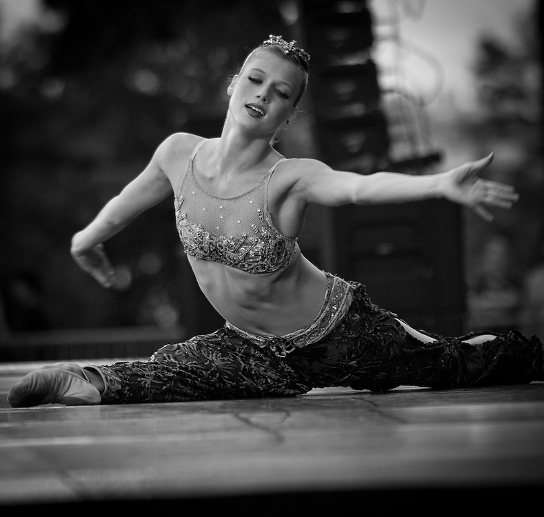 Boston Ballet's Keenan Kampa performs with the Boston Landmarks Orchestra at the Hatch shell. 31st of August 2011