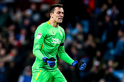 Lovre Kalinic of Aston Villa celebrates Andre Green of Aston Villa scoring a goal to make it 3-3 - Mandatory by-line: Robbie Stephenson/JMP - 08/02/2019 - FOOTBALL - Villa Park - Birmingham, England - Aston Villa v Sheffield United - Sky Bet Championship