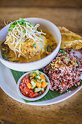 Red chicken coconut curry at Betelnut Cafe.