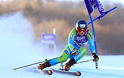 Ana Drev of Slovenia skiing in first run of Maribor women giant slalom race of Audi FIS Ski World Cup 2008-09, in Maribor, Slovenia, on January 10, 2009. (Photo by Vid Ponikvar / Sportida)