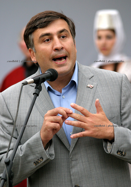 Mikhail Saakashvili, President of the caucasian republic Georgia.