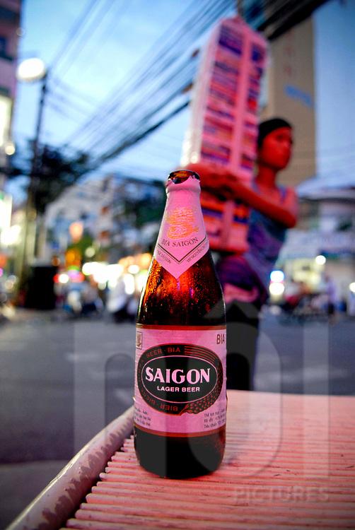 Bottle of Saigon beer, Ho Chi Minh city, Vietnam, Southeast Asia, 2005