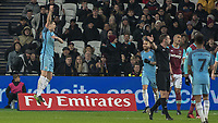 Football - 2016 / 2017 FA Cup - Third Round: West Ham United vs. Manchester City <br /> <br /> John Stones of Manchester City celebrates scoring his teams 5th goal at The London Stadium.<br /> <br /> COLORSPORT/DANIEL BEARHAM