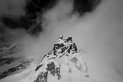 Patrouille des Glacier 2012, 19 April 2012<br /> Arolla, Cabane de Bertol, südlich des Aiguille de la Tsa auf 3311m, Region, Europe, Switzerland, Arolla, Cabane de Bertol