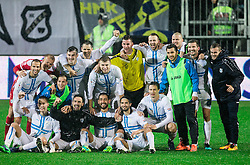 Players of Rijeka celebrate after winning during football match between HNK Rijeka and HNK Hajduk Split in Round #15 of 1st HNL League 2016/17, on November 5, 2016 in Rujevica stadium, Rijeka, Croatia. Photo by Vid Ponikvar / Sportida