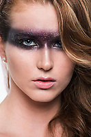 High fashion makeup by Dior Cosmetics on beautiful girl