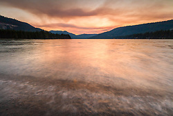 """Donner Lake Sunset 41"" - Photography of Donner lake in Truckee, California shot at sunset"