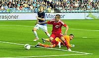 Fotball Herrer UEFA Europa League 2013<br /> Marienlyst Stadion Gamle Gress  18.07.2013<br /> <br /> Strømsgodset vs Debrecen<br /> <br /> Resultat <br /> <br /> Foto: Robert Christensen Digitalsport<br /> <br /> Strømsgodset keeper lars Stubhaug bkir forsert av<br /> Debrecen