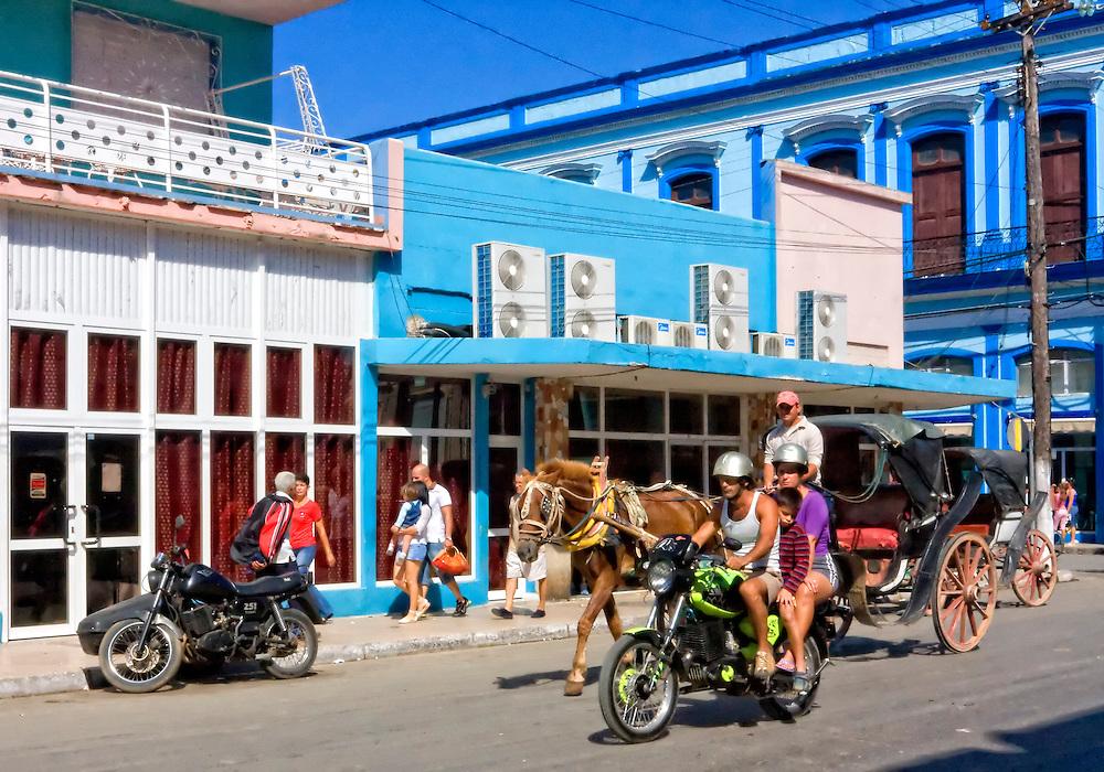 Motorcycle in Havana, Cuba.