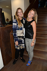 Left to right, FREDERICA LOVELL-PANK and DAVINA HARBORD at a preview evening of the Leon Max Autumn Winter Collection 2013 held at Leon Max, 229 Westbourne Grove, London W11 on 24th September 2013.