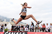 Olga Rypakova (KAZ) places seventh in the women's triple jump at 46-11 1/2 (14.31m)during the women's triple jump in the  Herculis Monaco in an IAAF Diamond League meet , Thursday, July 11, 2019, in Port Hercules, Monaco.(Jiro Mochizuki/Image of Sport)