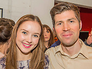 Alexandra Dowling (plays Beth) with James Marples, the musician -Press night party for A Lie of the Mind by Sam Shepard a new production by Defibrillator at the Southwark Playhouse, London.