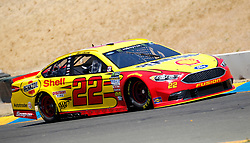 June 22, 2018 - Sonoma, CA, U.S. - SONOMA, CA - JUNE 22: Joey Logano driving the Team Penske Number 22 Shell Pennzoil Ford during practice for the Monster Energy NASCAR Cup Series - Toyota/Save Mart 350 at Sonoma Raceway in Sonoma, CA. (Photo by Larry Placido/Icon Sportswire) (Credit Image: © Larry Placido/Icon SMI via ZUMA Press)