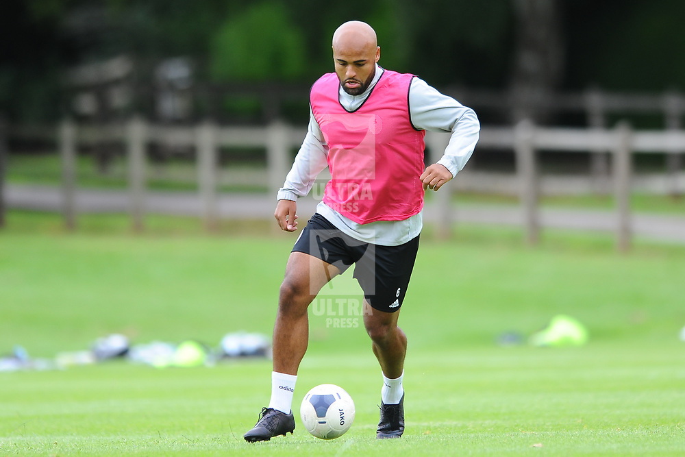 TELFORD COPYRIGHT MIKE SHERIDAN Courtney Meppen-Walter on the ball as AFC Telford United return to training at Lilleshall National Sports Centre on Saturday, July 4, 2020.<br /> <br /> <br /> Picture credit: Mike Sheridan/Ultrapress<br /> <br /> MS202021