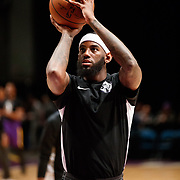 Reno Bighorns Forward JAKARR SAMPSON (29) warms up before the Western Conference Semi-Final NBA G-League Basketball game between the Reno Bighorns and the South Bay Lakers at the Reno Events Center in Reno, Nevada.