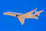 The Gulfstream G550 business jet aircraft produced by General Dynamics' Gulfstream Aerospace unit