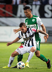 08.05.2015, Stadion der Stadt, Linz, AUT, 2.FBL, LASK Linz vs Mattersburg, während der Sky Go Erste Liga- Begegnung zwischen LASK Linz und SV Mattersburg am Freitag, 08. Mai 2015, in Linz, im Bild v.l. Daniel Kerschbaumer (LASK Linz), Francisco Jose Sanchez Rodriguez (SV Mattersburg) // during Austrian Second Football Bundesliga 32th round Match between LASK Linz and Floridsdorfer AC at the Stadion der Stadt in Linz, Austria on 2015/05/08. EXPA Pictures © 2015, PhotoCredit: EXPA/ Reinhard Eisenbauer