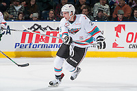 KELOWNA, CANADA - DECEMBER 30: Cole Linaker #26 of Kelowna Rockets calls for the pass against the Everett Silvertips on December 30, 2015 at Prospera Place in Kelowna, British Columbia, Canada.  (Photo by Marissa Baecker/Shoot the Breeze)  *** Local Caption *** Cole Linaker;