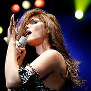 McAllen, TX / 2005 - Ana Barbara performed during an opening act for the Vicente Fernandez concert at Dodge Arena. Photo by Mike Roy/The Monitor