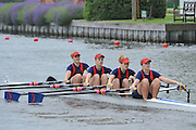 Henley, GREAT BRITAIN,  Junior Women's Quadruple Sculls, W4X, Sir William Borlase's Grammar School, race along the Island. Friday  10:41:36  29/06/2012  [Mandatory Credit, Intersport Images]. ...Rowing Courses, Henley Reach, Henley, ENGLAND . HRR