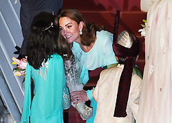 The Duchess of Cambridge arrives at the Pakistani Air Force Base Nur Khan, near Islamabad, on day one of the royal visit to Pakistan.