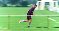 25.07.2017, Trainingsplatz TuS Bothel, Bothel, GER, Trainingslager, West Ham United, im Bild Marco Arnautovic beim Sprint // during a trainingsession at the trainingscamp of the English Premier League Football Club West Ham United at the Trainingsplatz TuS Bothel in Bothel, Germany on 2017/07/25. EXPA Pictures &copy; 2017, PhotoCredit: EXPA/ Andreas Gumz<br /> <br /> *****ATTENTION - OUT of GER*****