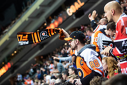 Philadelphia Flyers fan during NHL game between teams Chicago Blackhawks and Philadelphia Flyers at NHL Global Series in Prague, O2 arena on 4th of October 2019, Prague, Czech Republic. Photo by Grega Valancic / Sportida