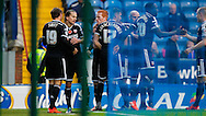 Lasse Vibe of Brentford celebrates scoring the opening goal during the Sky Bet Championship match between Blackburn Rovers and Brentford at Ewood Park, Blackburn<br /> Picture by Mark D Fuller/Focus Images Ltd +44 7774 216216<br /> 07/11/2015