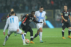 27.11.2014, Stadium Kantrida, Rijeka, CRO, UEFA EL, HNK Rijeka vs FC Standard Liege, Gruppe G, im Bild Geoffrey Mujangi Bia // during the UEFA Europa Lduring the UEFA Europa League group G match between HNK Rijeka and FC Standard Liege at the Stadium Kantrida in Rijeka, Croatia on 2014/11/27. EXPA Pictures © 2014, PhotoCredit: EXPA/ Pixsell/ Nel Pavletic<br /> <br /> *****ATTENTION - for AUT, SLO, SUI, SWE, ITA, FRA only*****