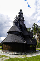 Norway, Gol. Gol new Stave Church, a copy of the original in Oslo.