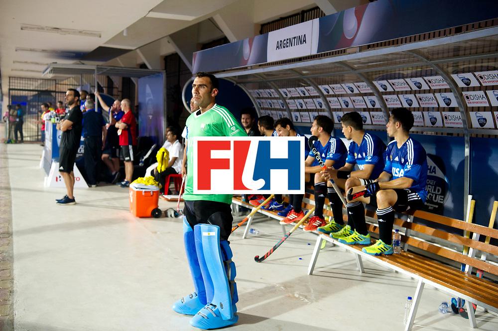 Odisha Men's Hockey World League Final Bhubaneswar 2017<br /> Match id:11<br /> Argentina v Spain<br /> Foto: keeper Juan Vivaldi (Arg) <br /> COPYRIGHT WORLDSPORTPICS FRANK UIJLENBROEK