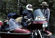 Park Ranger, Park Visitor, Motorcycle, Harley, Harley Davidson, Summer, Denali National Park, Alaska
