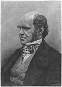Charles Darwin (1809-1882) English naturalist. Evolution by Natural Selection. Engraving from 'Harper's New Monthly Magazine', European edition, 1884.  Engraving.