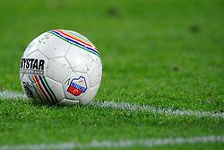 23-10-2009 VOETBAL: FC UTRECHT - RODA: UTRECHT<br /> Utrecht wint met 2-1 van Roda / Derby star bal utrecht logo op de bal veld voetbal item<br /> ©2009-WWW.FOTOHOOGENDOORN.NL