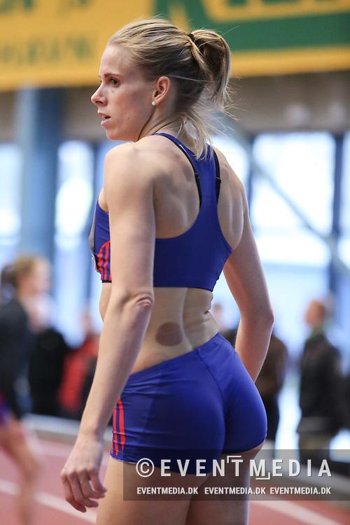 Sara Slott Petersen. Danske Mesterskaber indendørs i atletik 2017  i Spar Nord Arena, Skive, Denmark, 18.02.2017. Photo Credit: Allan Jensen/EVENTMEDIA.