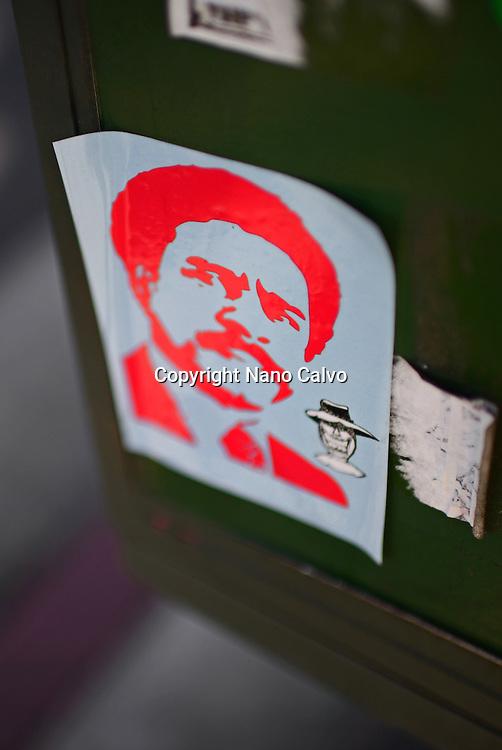 Richard Pryor´s face sticker, Los Angeles.