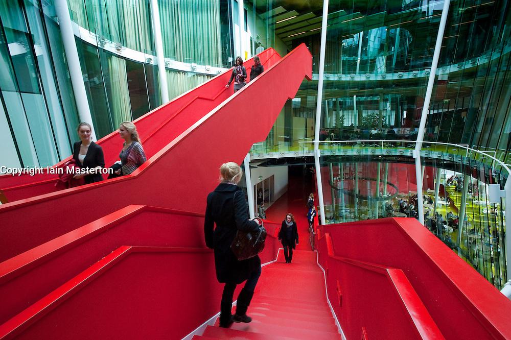 Interior of modern Dr AA Heimans van den Bergh-building at Utrecht University in The Netherlands; architect Erick van Egeraat