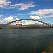 The bridge over Roosevelt Lake, just past the Roosevelt Dam