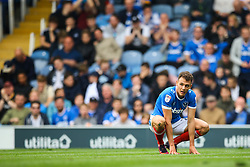 Kal Naismith of Portsmouth kneels on the pitch - Mandatory by-line: Jason Brown/JMP - 06/05/2017 - FOOTBALL - Fratton Park - Portsmouth, England - Portsmouth v Cheltenham Town - Sky Bet League Two